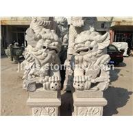 惠安石雕  献钱狮  北京狮  港币狮     造型逼真  活灵活现