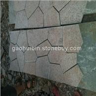 3 黄秀石碎拼石材 园林铺地佳品 厂家直销 质优价廉
