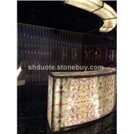 玛瑙透光石吧台