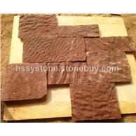 墻石地鋪石 雞血紅方形石