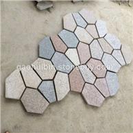 5 混色 碎拼石材 乱片乱拼石材 冰裂纹加工