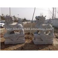 石雕麒麟 镇宅纳福石雕麒麟 精致石雕麒麟 各种石雕动物