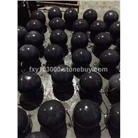 福建石材长泰芝麻黑G654花岗岩 芝麻灰G655石材 深灰麻 磨光面 圆球 圆柱等加工