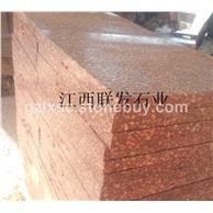 映山红代代红石材荔枝面光泽红石材g683石材荔枝板