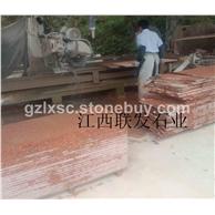 江西花岗石富贵红映山红石材光泽红g683石材生产线