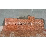 江西石材富贵红映山红石材样品图片代代红光泽红石材g683四季红石材质量