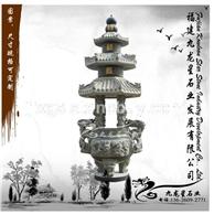 石雕仿古鼎 寺庙宗教专用香炉 大理石香炉