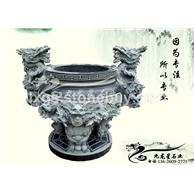 寺庙古建石雕香炉 石雕用鼎 宝鼎财鼎雕刻