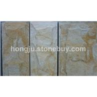 黄木纹蘑菇石