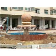 石雕风水球 庭院广场门口风水球 天然风水球石材雕刻