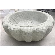 青砂岩石花盆