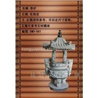 惠安石香炉 寺庙香火炉雕塑006