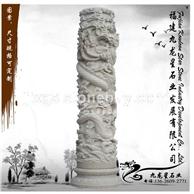 石雕龙柱 大型文化华表柱子 景区户外柱子