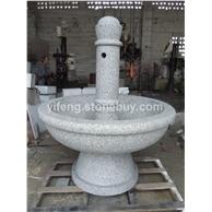 惠安石雕喷泉 跌水钵 黄锈石水景喷泉定做