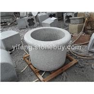 圆形庭院石材水池水盆 奥地利畅销款石材盆 外贸花岗岩603水槽