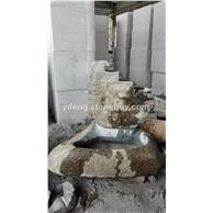 卵石喷泉 石雕自然石喷泉水景 青石喷泉