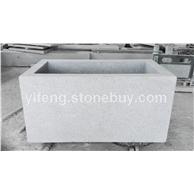 花岗岩芝麻白603石材欧式水盆 出口意大利石材喷泉