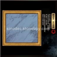 爵士白天然大理石墙面石材定做 白色大理石进口石材卫生间墙面