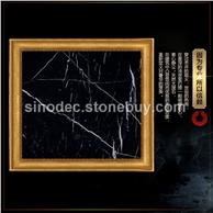 黑白根天然大理石材线条门套背景墙楼梯踏步门槛石飘窗台面