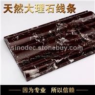 紫罗红大理石门套线条天然石材专业线条生产厂家