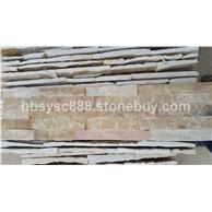 黄木纹文化石胶粘板组合板五条文化石