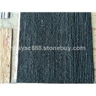 中国黑黑石英流水石
