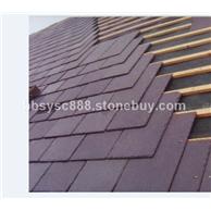 天然石材瓦板黑色瓦板紫色蓋板