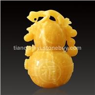 米黄玉雕件 玉葫芦