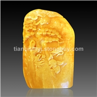 米黃玉雕件