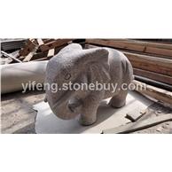 出口欧洲石雕大象 艺峰石雕工厂20年专业出口石雕