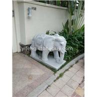 花岗岩白麻石雕大象 大门风水摆件厂家低价直供