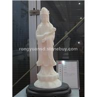 汉白玉观音 石材佛像雕塑 人物雕塑