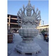 供应  石雕菩萨雕塑   寺庙佛像雕塑 石雕千手观音