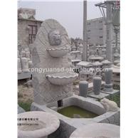 黄锈石喷泉  批发石雕喷水池园林雕刻,动物 人物石雕 喷水池 花钵栏杆 花岗岩石材雕塑