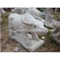 供应石雕牛 动物雕塑 天然石材工艺品