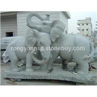 供应 景观大象雕塑 石象雕刻 招财象