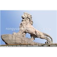 石雕动物雕塑 园林景观狮子雕塑