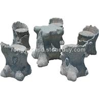 花岗岩石桌石椅 景观石桌椅