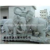 景观动物雕刻 景观大象 石雕大象