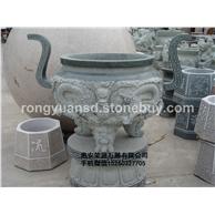 寺庙用具 花岗岩香炉 青石雕刻