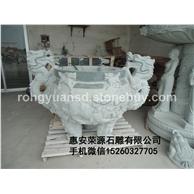 青石香炉 寺庙用具园林雕刻,动物 人物石雕 喷水池 花钵栏杆