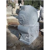 青石门墩/寺庙门墩/石墩雕刻/园林雕刻,动物 人物石雕 喷水池 花钵栏杆 花岗岩石材雕塑