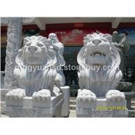 惠安厂家 石雕欧洲狮 景观狮 石狮子 石雕北京狮
