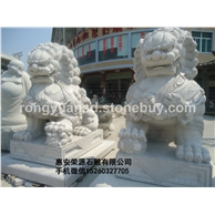 惠安石雕 花岗岩石雕狮子 北京狮 镇宅石狮子