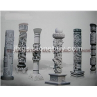 石雕龙柱 青石石材龙柱雕刻 加工定做厂家直销