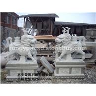 供应 石狮子雕塑 招财狮 石雕门狮 石雕南狮1006