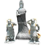 花岗岩大象观音佛像石雕 哼哈二将雕塑 庙宇寺院石雕佛像