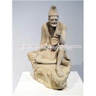 大理石济公雕刻  神话人物雕刻 惠安石雕