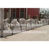 石雕山羊十二生肖摆件 大理石石雕动物 园林雕塑工艺品
