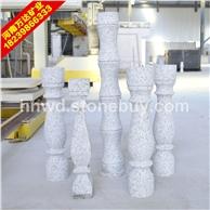 白色花岗岩石材  栏杆花瓶柱